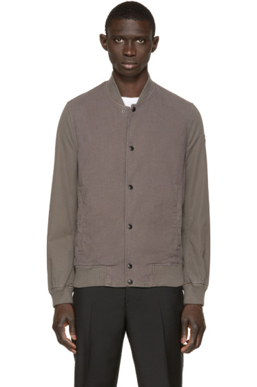 Paul Smith Jeans - Khaki Cotton Bomber Jacket