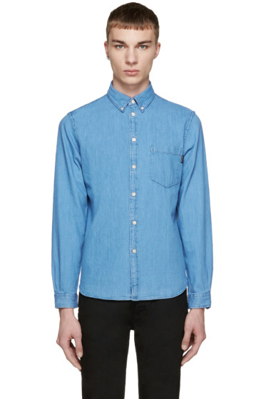 Paul Smith Jeans - Blue Tailored Denim Shirt