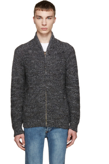 Paul Smith Jeans - Grey Zip-Up Sweater