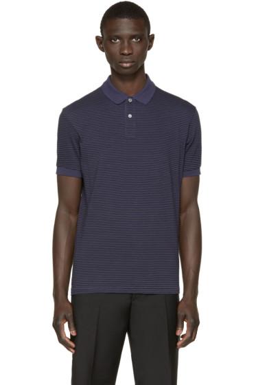 Paul Smith Jeans - Navy & Black Striped Polo