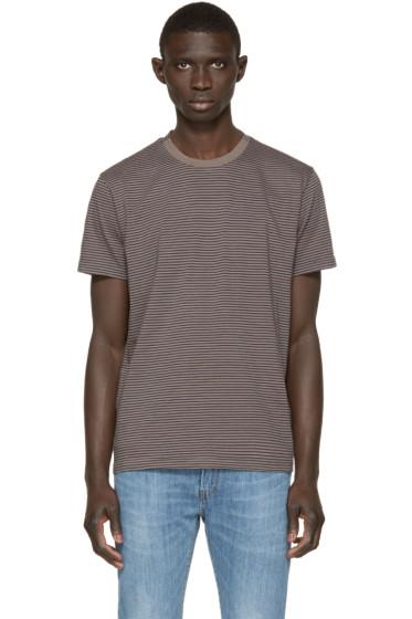 Paul Smith Jeans - Grey & Navy Striped T-Shirt