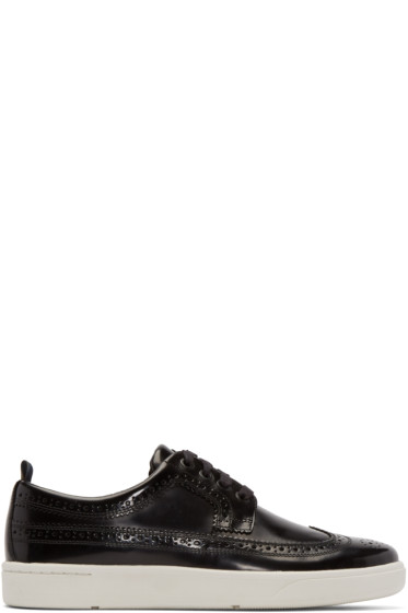 Paul Smith Jeans - Black Leather Harkin Low-Top Sneakers