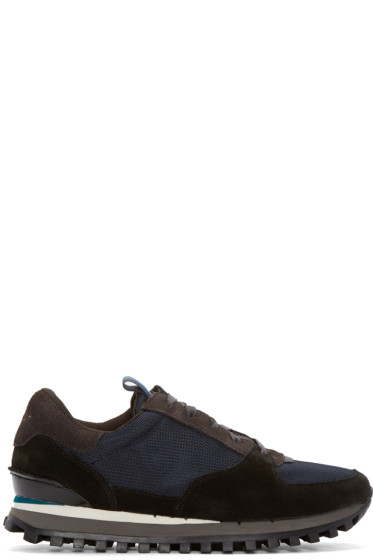 Paul Smith Jeans - Tricolor Suede & Mesh Noise Galaxy Sneakers