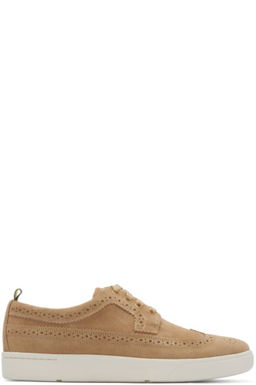 Paul Smith Jeans - Beige Brogue Harkin Sneakers