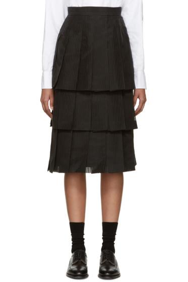 Thom Browne - Black Tiered Skirt