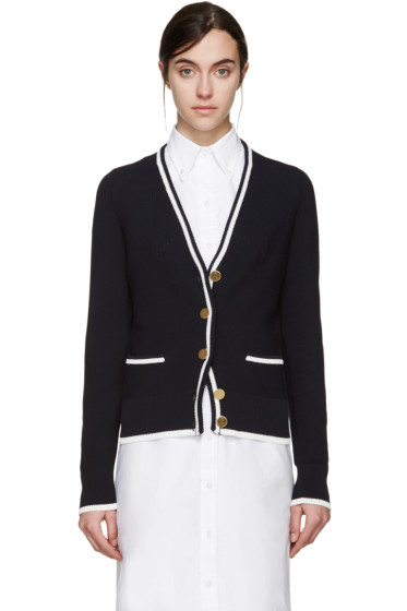 Thom Browne - Navy Cotton Links Cardigan