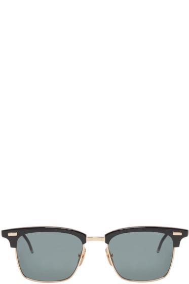 Thom Browne - Black & Gold Sunglasses