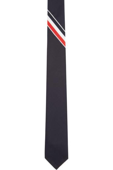 Thom Browne - Navy Tricolor Grosgrain Tie