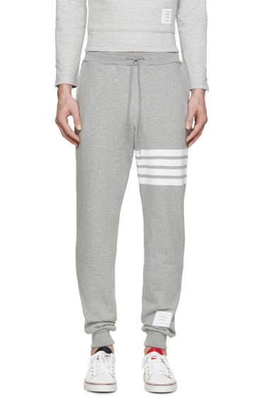 Thom Browne - Grey Striped Lounge Pants