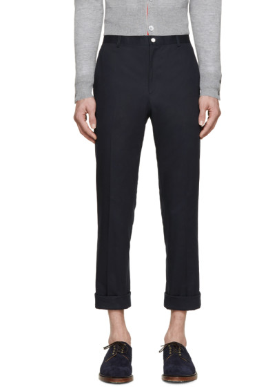 Thom Browne - Navy Twill Classic Chinos