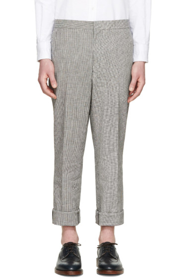 Thom Browne - Black & White Linen Funmix Trousers