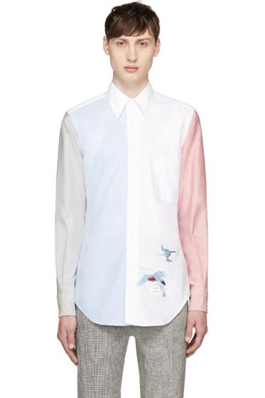 Thom Browne - Tricolor Funmix Crane Shirt