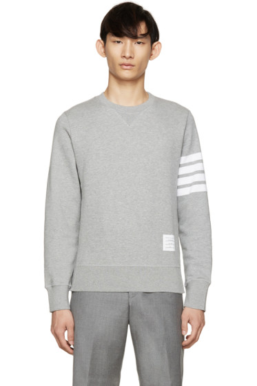 Thom Browne - Grey Striped Armband Pullover