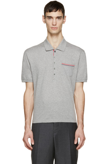 Thom Browne - Grey Cotton Piqué Polo