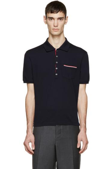 Thom Browne - Navy Cotton Piqué Polo