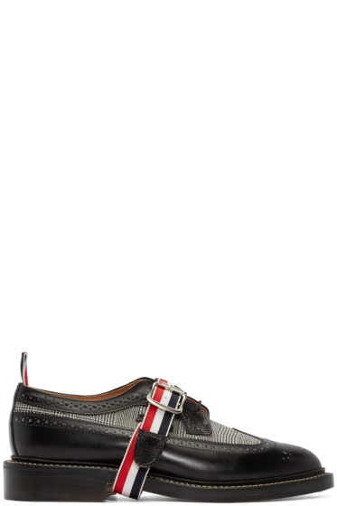 Thom Browne - Black Leather Prince of Wales Brogues