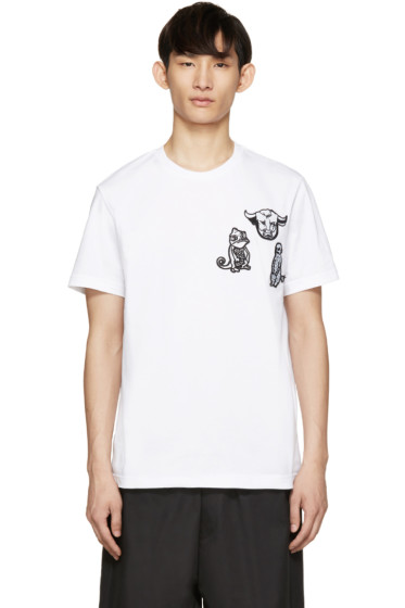 Markus Lupfer - White Collage Patch T-Shirt