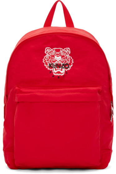 Kenzo - Red Nylon Tiger Backpack