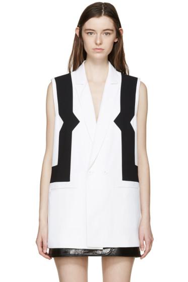 Kenzo - White & Black Waistcoat