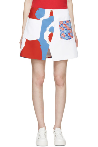 Kenzo - Multicolor Printed  A-Line Curve Skirt