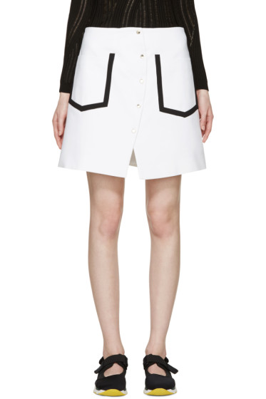 Kenzo - White Delineated Wrap Skirt