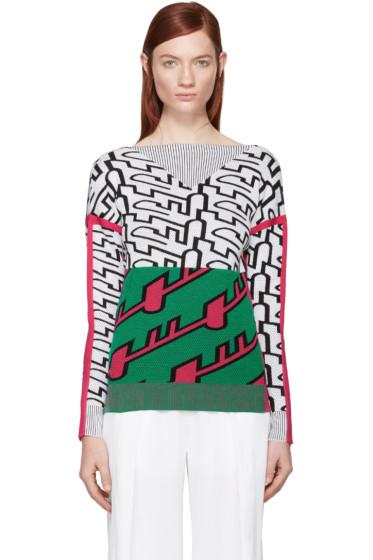 Kenzo - Tricolor Jacquard Trompe L'Oeil Pullover