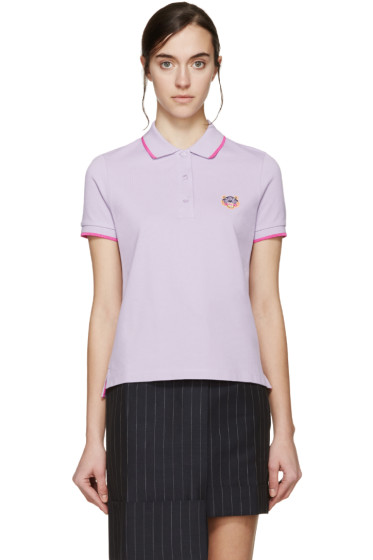 Kenzo - Purple Embroidered Tiger Polo