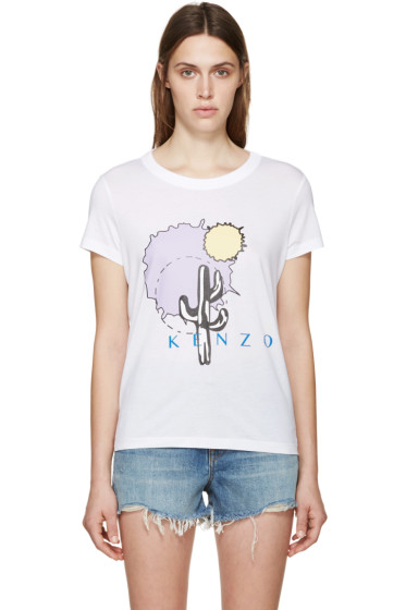 Kenzo - White Cactus T-Shirt