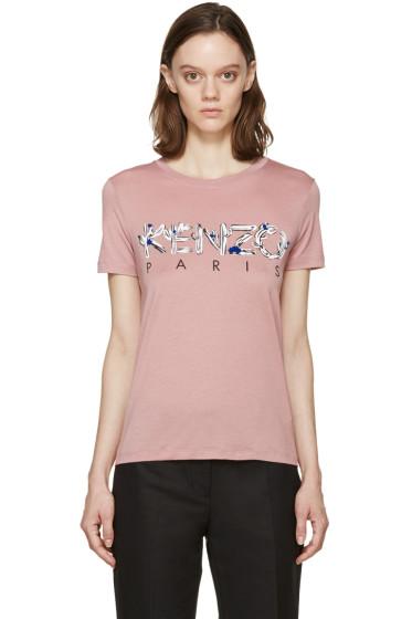Kenzo - Pink Cactus Logo T-Shirt