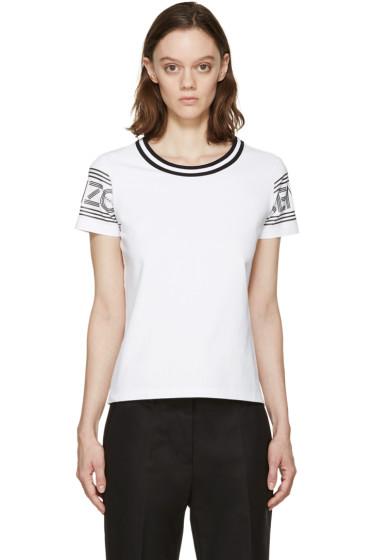 Kenzo - White & Black Logo T-Shirt