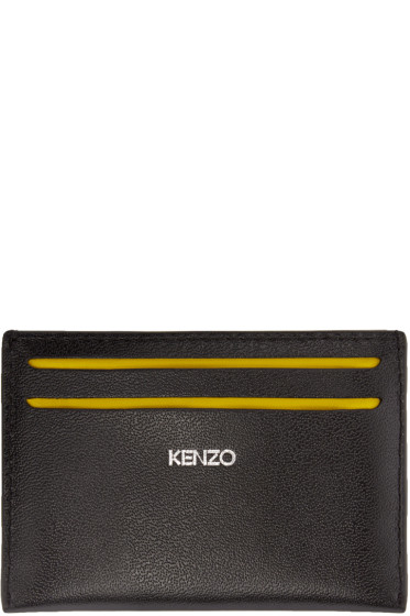 Kenzo - Black Leather Card Holder