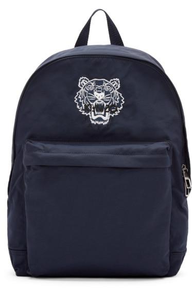 Kenzo - Navy Nylon Tiger Backpack