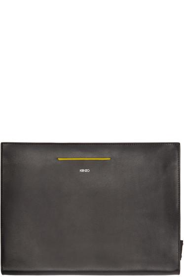 Kenzo - Black Leather Document Holder