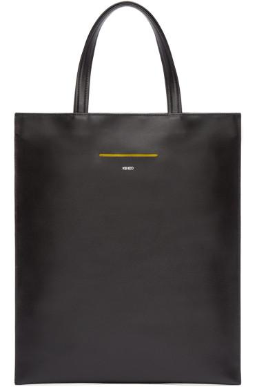Kenzo - Black Slim Leather Tote
