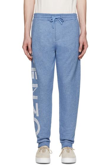 Kenzo - Blue Marled Logo Lounge Pants