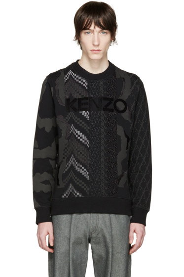 Kenzo - Black Embroidered Pullover