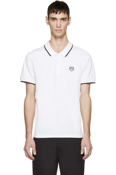 Kenzo - White Tiger Crest Polo