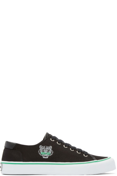 Kenzo - Black Canvas Tiger Sneakers