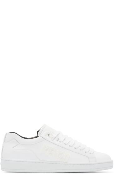 Kenzo - White Leather Tennix Sneakers