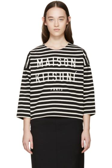 Maison Kitsuné - Black & Ecru Marin T-Shirt