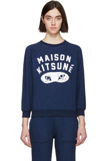 Maison Kitsuné - Navy Fox Eyes Pullover