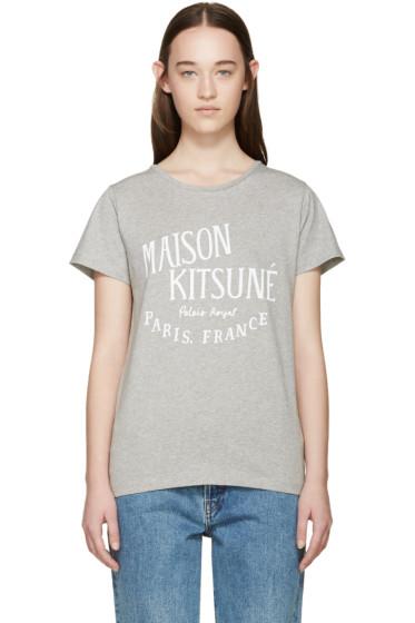 Maison Kitsuné - Grey Palais Royal T-Shirt