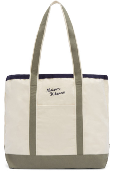 Maison Kitsuné - Off-White Richelieu Tote Bag