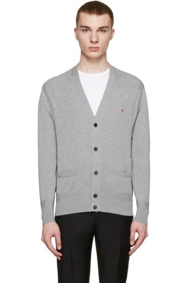 Maison Kitsuné - Grey Merino Wool Cardigan
