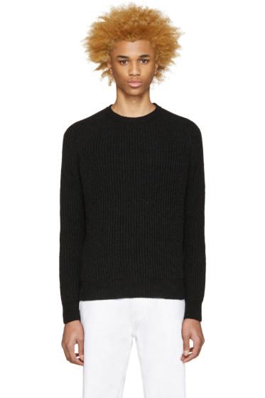Maison Kitsuné - Black Rib Knit Sweater