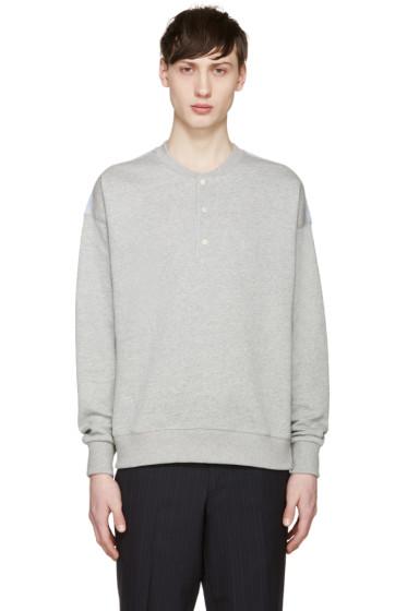 Maison Kitsuné - Grey Henley Sweatshirt