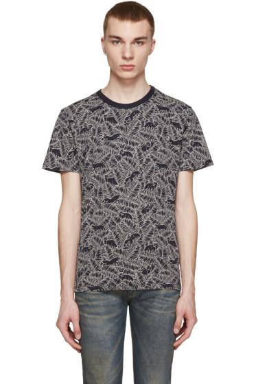 Maison Kitsuné - Navy Fox & Fern Print T-Shirt