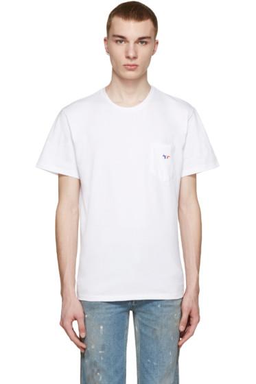 Maison Kitsuné - White Tricolor Fox T-Shirt