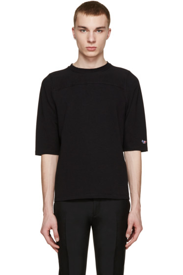 Maison Kitsuné - Black Tricolor Fox T-Shirt