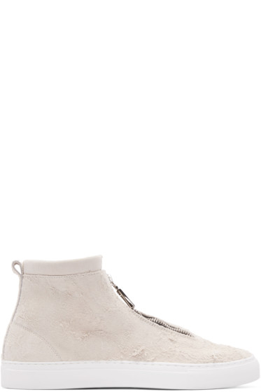 Diemme - Beige Suede Fontesi High-Top Sneakers